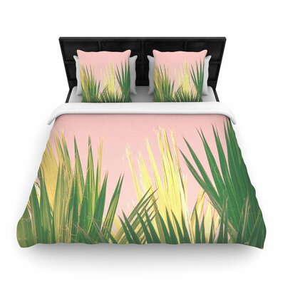 Ann Barnes Neon Jungle II Photography Woven Duvet Cover Size: King