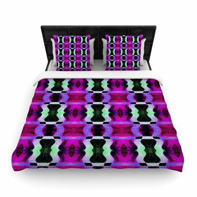 Anne LaBrie High Vibrations Woven Duvet Cover Size: King