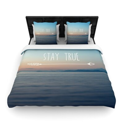 Ann Barnes Stay True Woven Duvet Cover Size: King