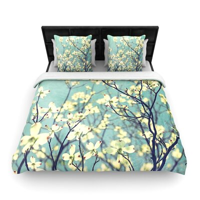 Ann Barnes Pure Floral Woven Duvet Cover Size: King