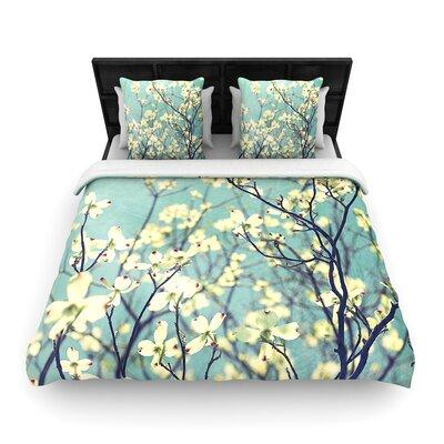 Ann Barnes Pure Floral Woven Duvet Cover Size: Twin
