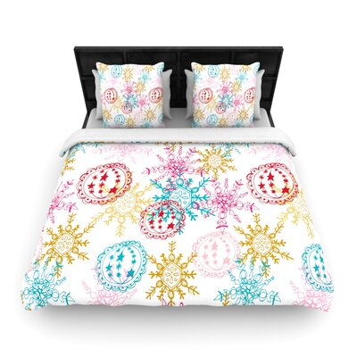 Anneline Sophia Let It Snow Woven Duvet Cover Size: Full/Queen