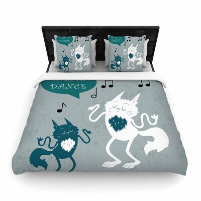 Anya Volk Time to Dance Woven Duvet Cover Size: Full/Queen