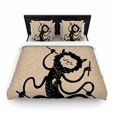 Anya Volk Music Monster Fantasy Woven Duvet Cover Size: King