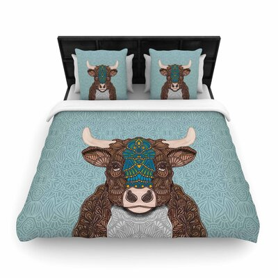 Art Love Passion Bennie - The Bull Woven Duvet Cover Size: Full/Queen