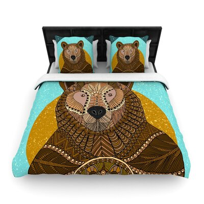 Art Love Passion 'Bear in Grass' Woven Duvet Cover Size: Twin EAAH8291 38760040