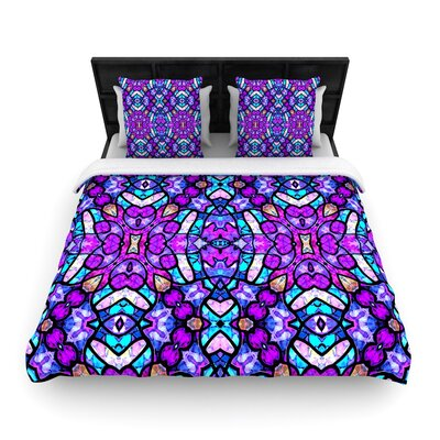 Art Love Passion Kaleidoscope Dream Continued Woven Duvet Cover Size: King