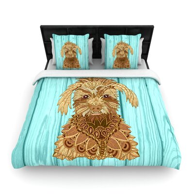 Art Love Passion Gatsby the Great Dog Woven Duvet Cover Size: King