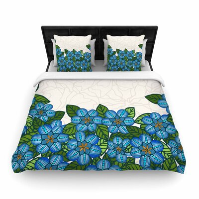 Art Love Passion Blue Flower Field Woven Duvet Cover Size: Full/Queen