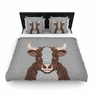 Art Love Passion Gustaf the Bull Woven Duvet Cover Size: Twin
