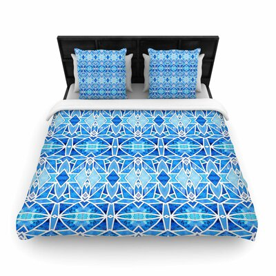 Art Love Passion Blue Diamonds Woven Duvet Cover Size: Full/Queen