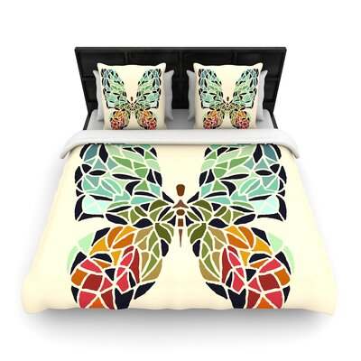 Art Love Passion Butterfly Woven Duvet Cover Size: Twin