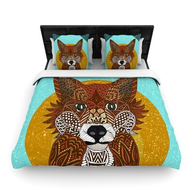 Art Love Passion Colored Fox Woven Duvet Cover Size: Full/Queen