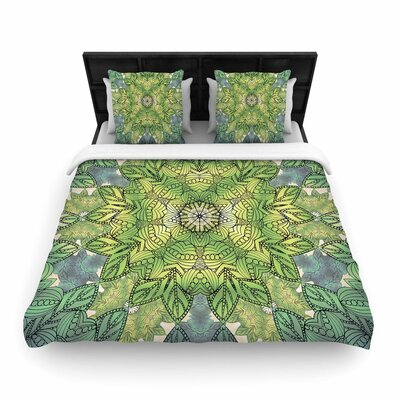 Art Love Passion Celtic Mandala Woven Duvet Cover Size: King