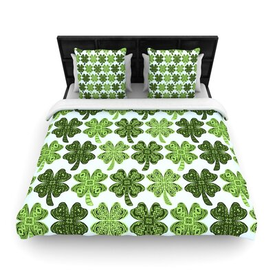 Art Love Passion Lucky You Shamrock Woven Duvet Cover Size: Twin