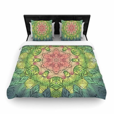 Art Love Passion Pink Celtic Flower Woven Duvet Cover Size: Full/Queen