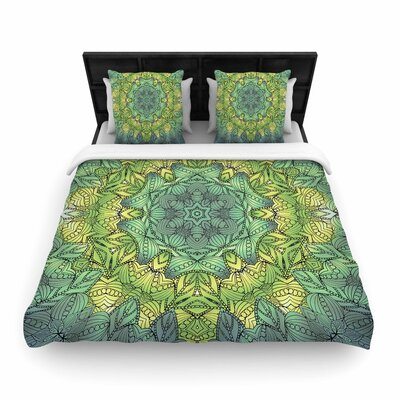 Art Love Passion Fairy Mandala Woven Duvet Cover Size: King