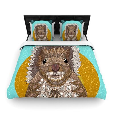 Art Love Passion Squirrel Woven Duvet Cover Size: King