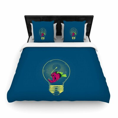 Anglerfish Bulb Woven Duvet Cover Size: Full/Queen