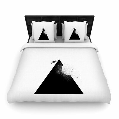 Apple Pyramid Woven Duvet Cover Size: King