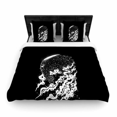 Alien Light Woven Duvet Cover Size: King
