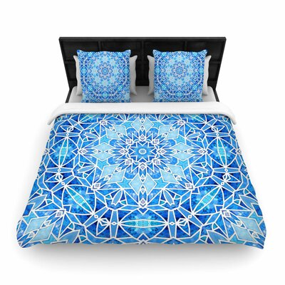 Art Love Passion Star Snowflake Woven Duvet Cover Size: King