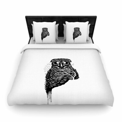 Autumn Owl Woven Duvet Cover Size: Twin