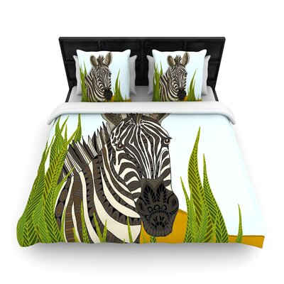 Art Love Passion Zebra Woven Duvet Cover Size: Full/Queen
