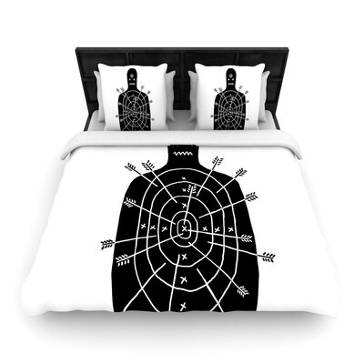 Arch Arrow Target Woven Duvet Cover Size: Full/Queen