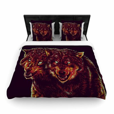 2head Woven Duvet Cover Size: Twin