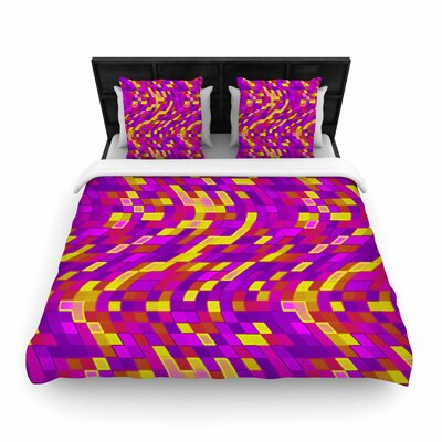 Artist Name Geometric Movement Tags Woven Duvet Cover Size: Full/Queen