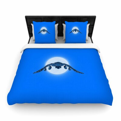 Battle Owl Woven Duvet Cover Size: Twin