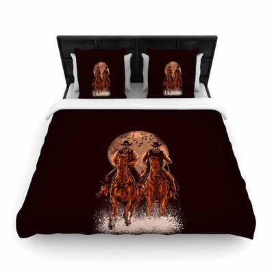 Come at Night Woven Duvet Cover Size: Full/Queen