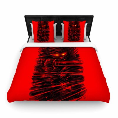 Dark Ninja Woven Duvet Cover Size: King