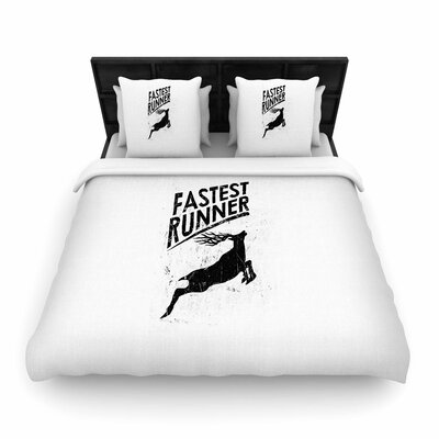 Fastest Runner Woven Duvet Cover Size: Full/Queen