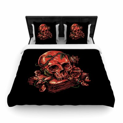 Dark History Fantasy Woven Duvet Cover Size: King