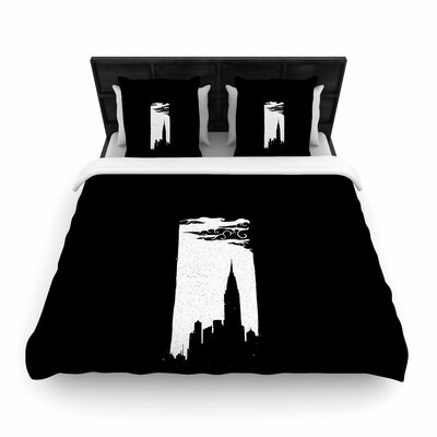 Chrysler Building Woven Duvet Cover Size: Twin