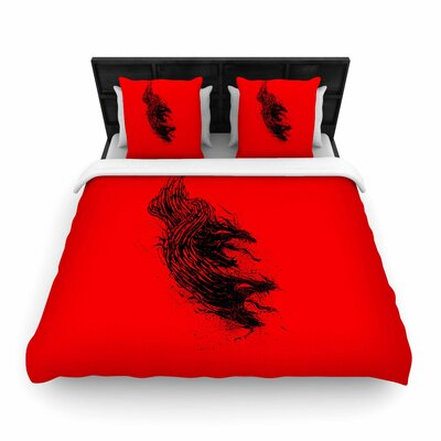 Came From Hell Woven Duvet Cover Size: Twin