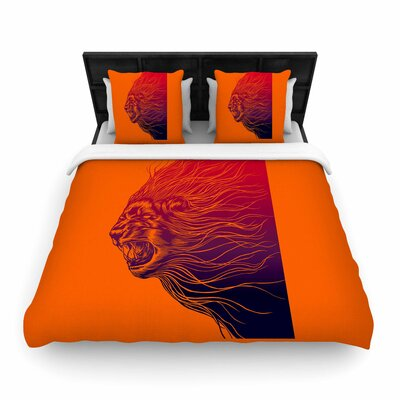 BarmalisiRTB Furious+ Animals Woven Duvet Cover Size: Full/Queen