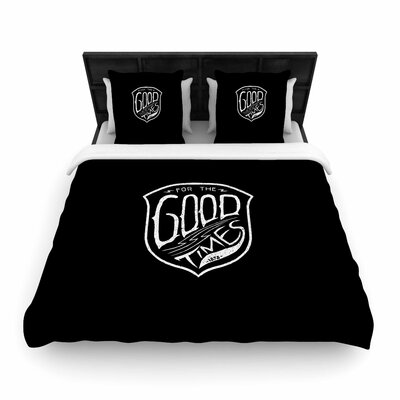 For the Good Time Woven Duvet Cover Size: King
