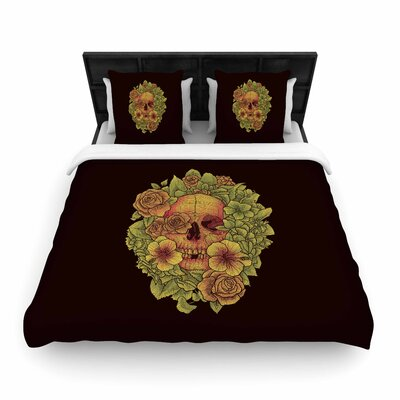 Fragrant Dead  Woven Duvet Cover Size: Full/Queen