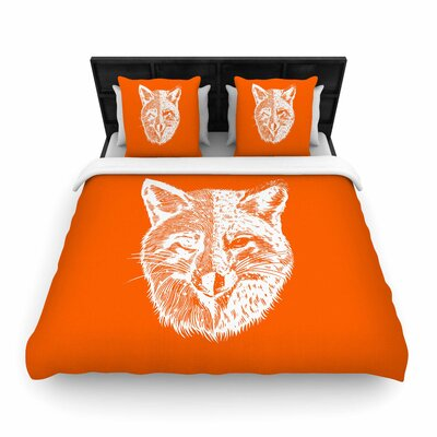 BarmalisiRTB Foxface Digital Woven Duvet Cover Size: Full/Queen