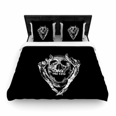 Jawz Woven Duvet Cover Size: Full/Queen