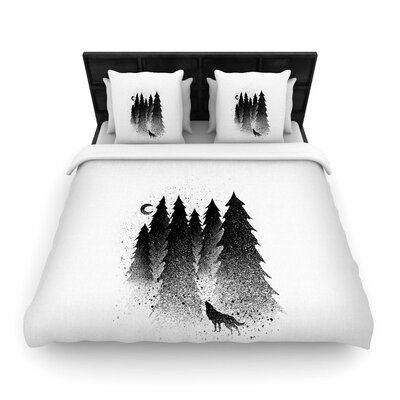 Secret Forest Woven Duvet Cover Size: Full/Queen
