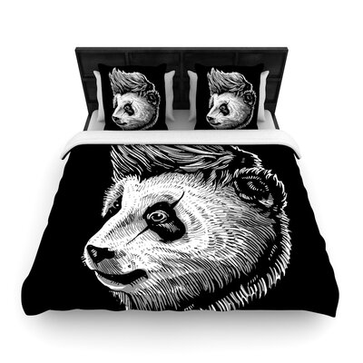Funky Panda Woven Duvet Cover Size: Full/Queen