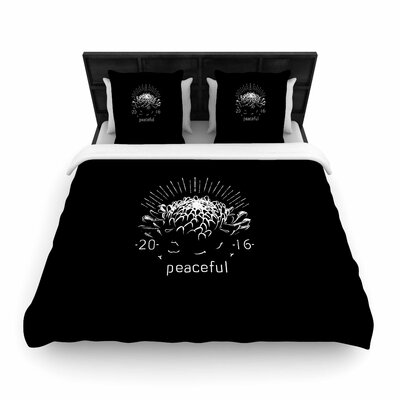 Peaceful Tags Woven Duvet Cover Size: Full/Queen