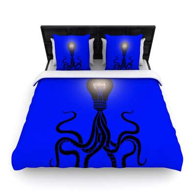 Octopus Bulb Tentacles Woven Duvet Cover Size: Full/Queen