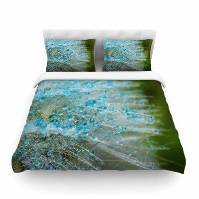 Ginkelmier Blue Rain Dandelion Photography Featherweight Duvet Cover Size: Twin