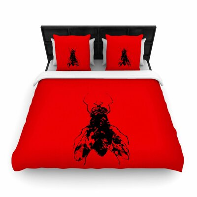 The Fly Woven Duvet Cover Size: Full/Queen