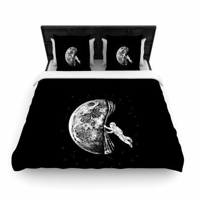 The Night Has Come Woven Duvet Cover Size: King